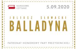 """Więcej o: Narodowe Czytanie """"Balladyny"""" Juliusza Słowackiego"""